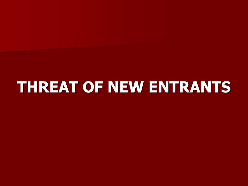 THREAT OF NEW ENTRANTS