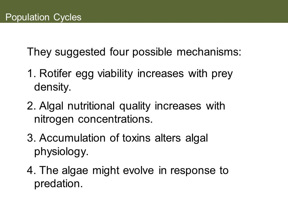 They suggested four possible mechanisms: