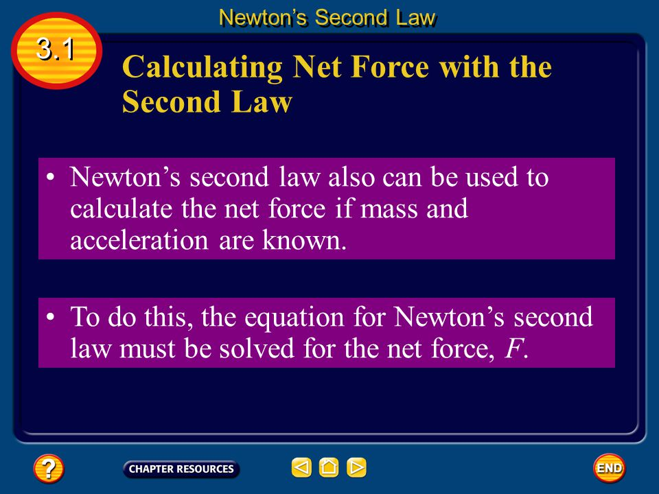 Calculating Net Force with the Second Law
