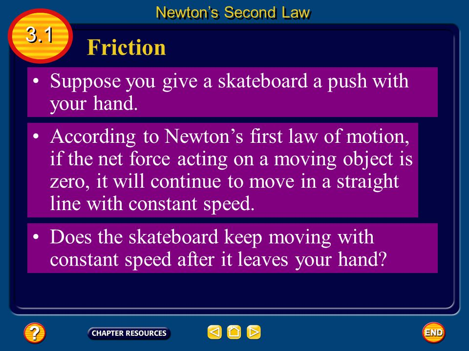 Friction 3.1 Suppose you give a skateboard a push with your hand.