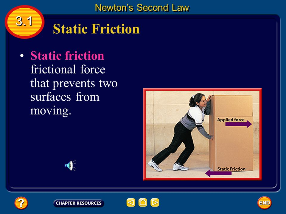 Newton's Second Law 3.1. Static Friction.
