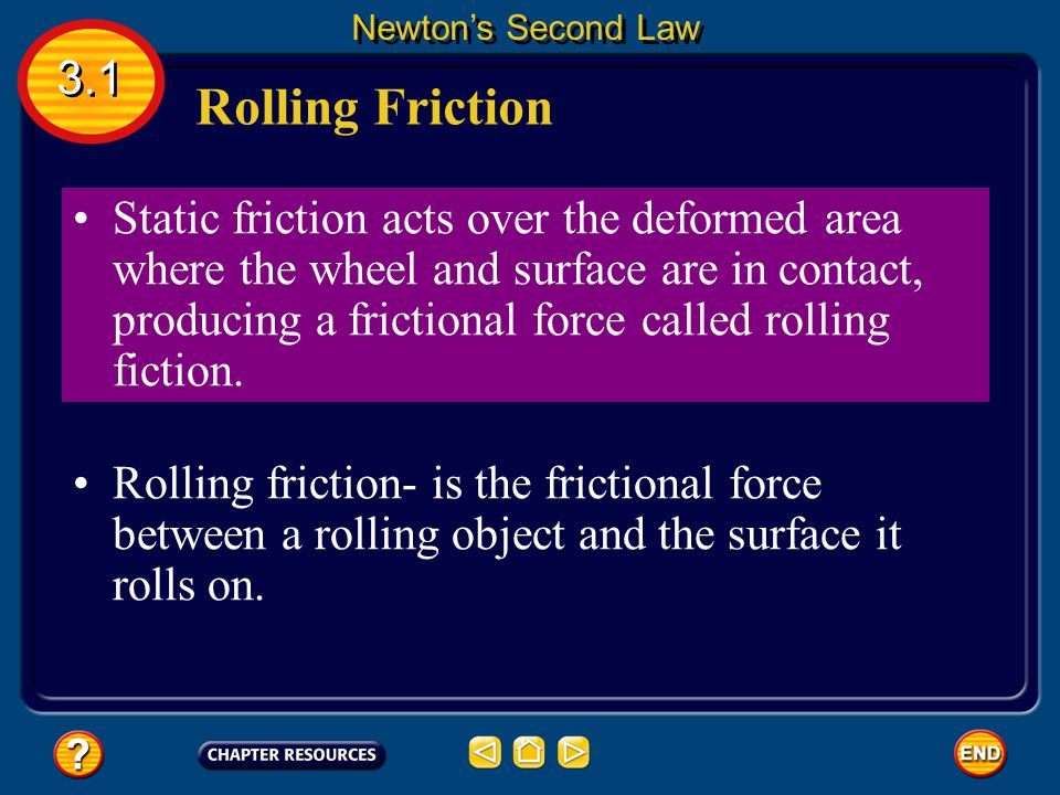 Newton's Second Law 3.1. Rolling Friction.