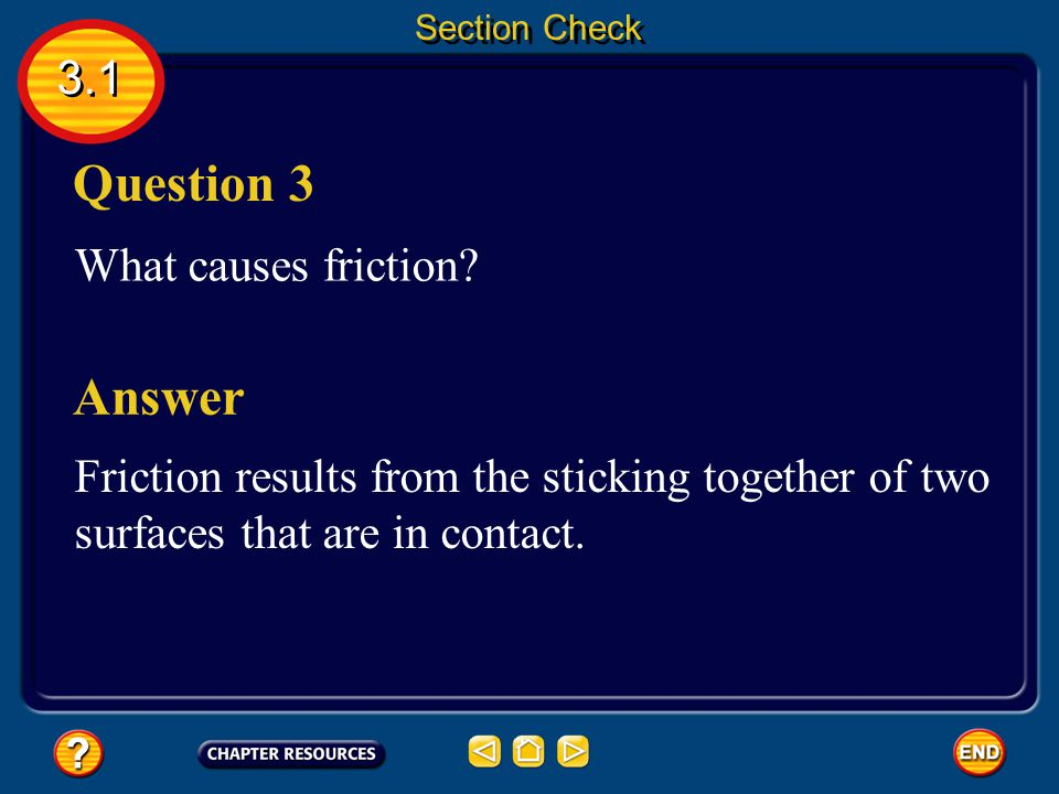 Question 3 Answer 3.1 What causes friction
