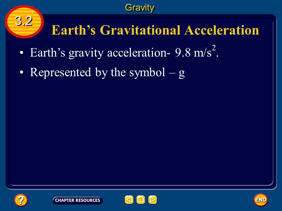 Earth's Gravitational Acceleration
