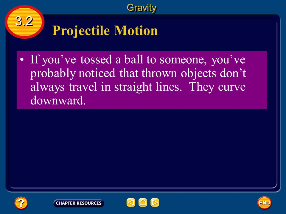 Gravity 3.2. Projectile Motion.