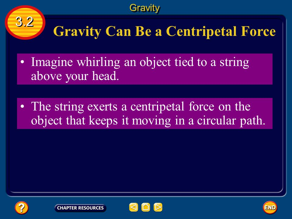 Gravity Can Be a Centripetal Force