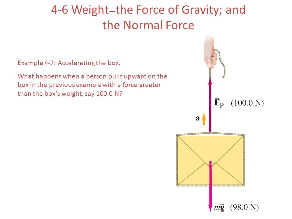 4-6 Weight—the Force of Gravity; and the Normal Force