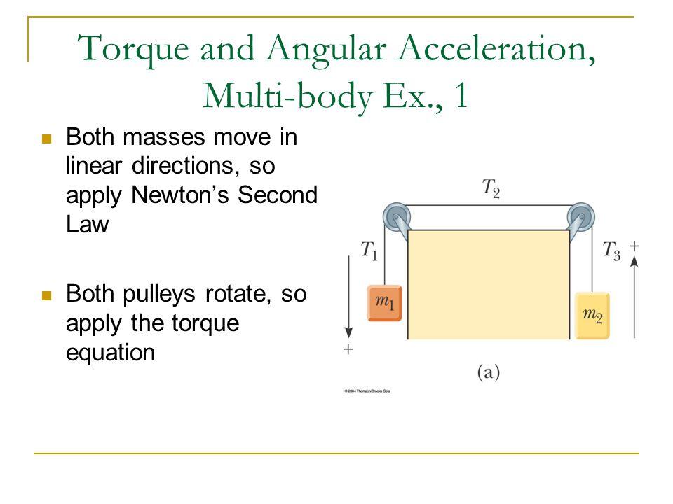 Torque and Angular Acceleration, Multi-body Ex., 1
