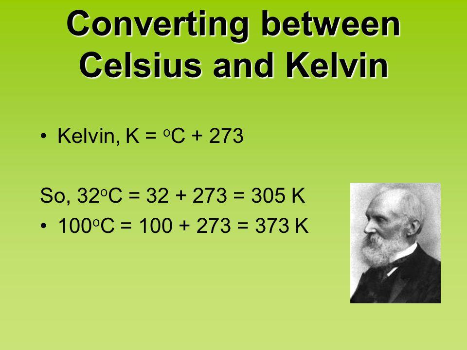 Converting between Celsius and Kelvin