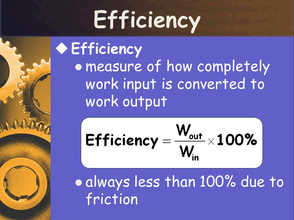 Efficiency Efficiency
