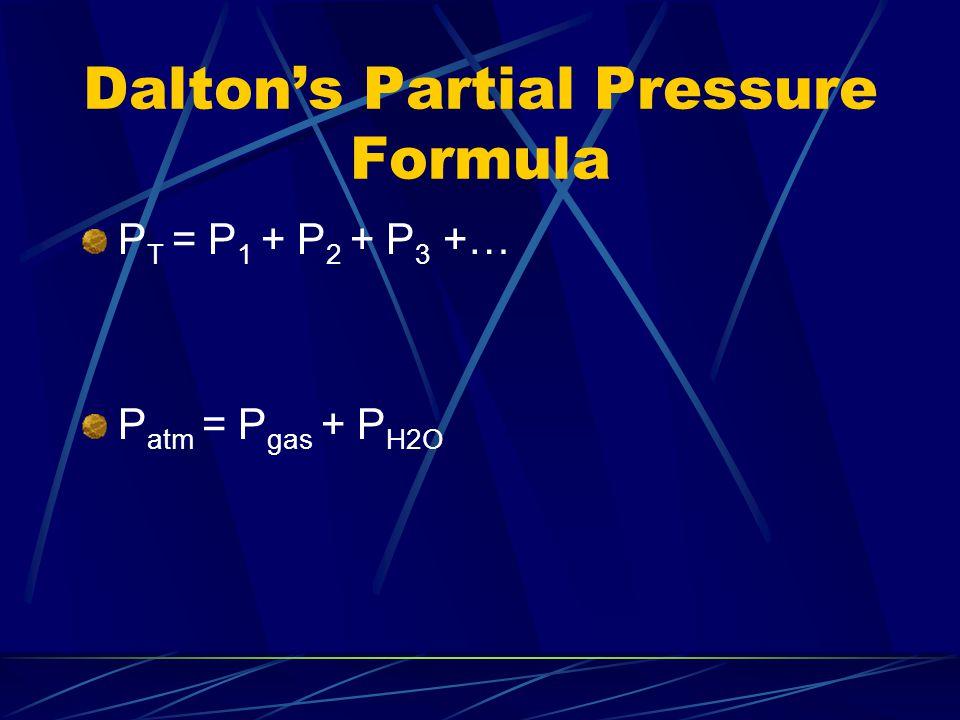 Dalton's Partial Pressure Formula