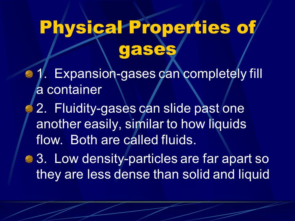 Physical Properties of gases