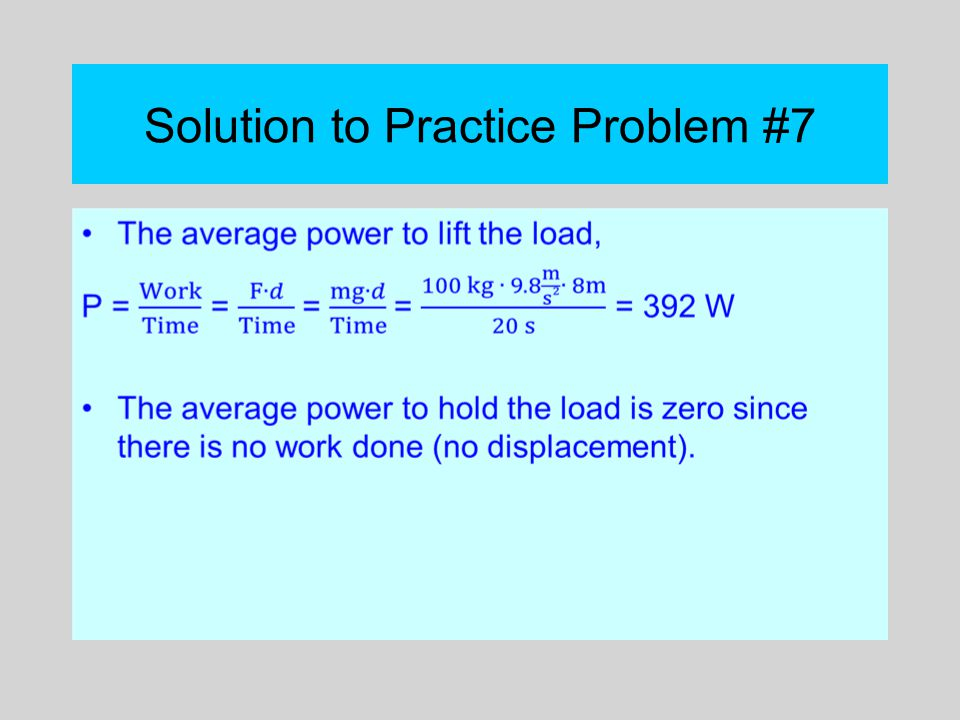 Solution to Practice Problem #7