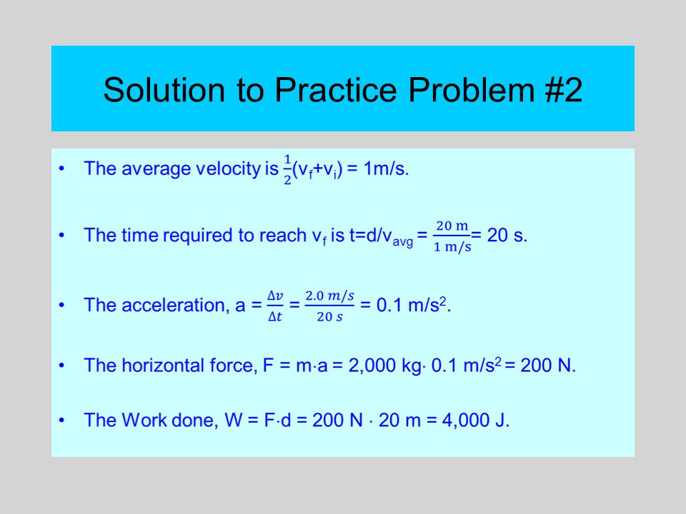 Solution to Practice Problem #2