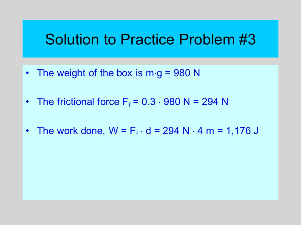 Solution to Practice Problem #3