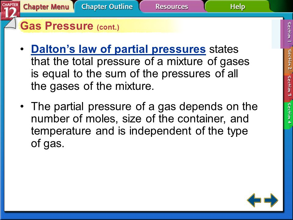 Gas Pressure (cont.)