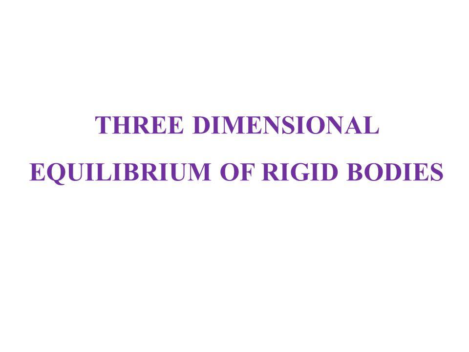 THREE DIMENSIONAL EQUILIBRIUM OF RIGID BODIES