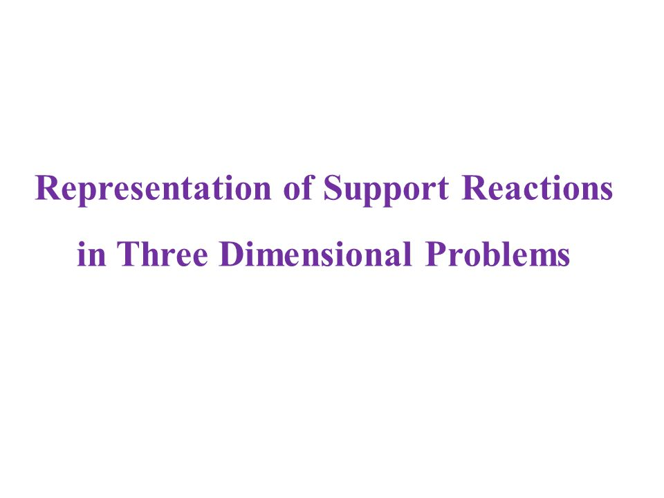 Representation of Support Reactions in Three Dimensional Problems