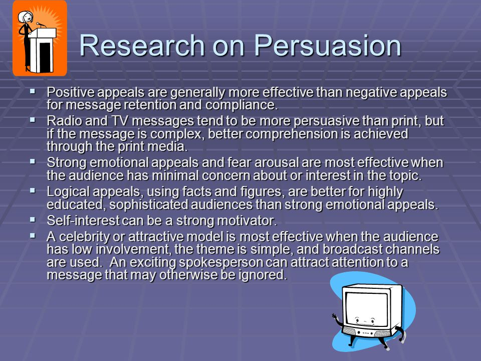 Research on Persuasion