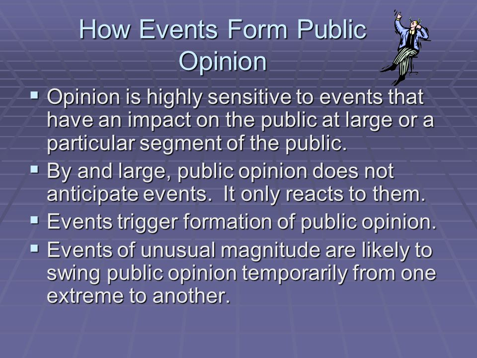 How Events Form Public Opinion