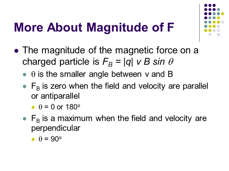 More About Magnitude of F