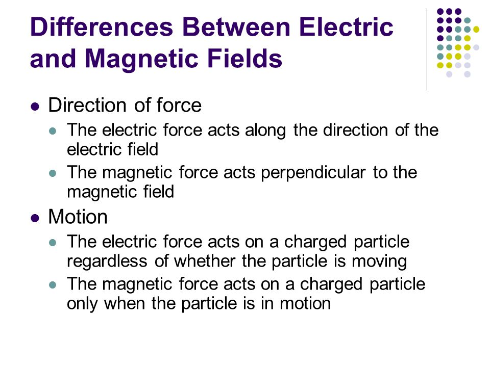 Differences Between Electric and Magnetic Fields