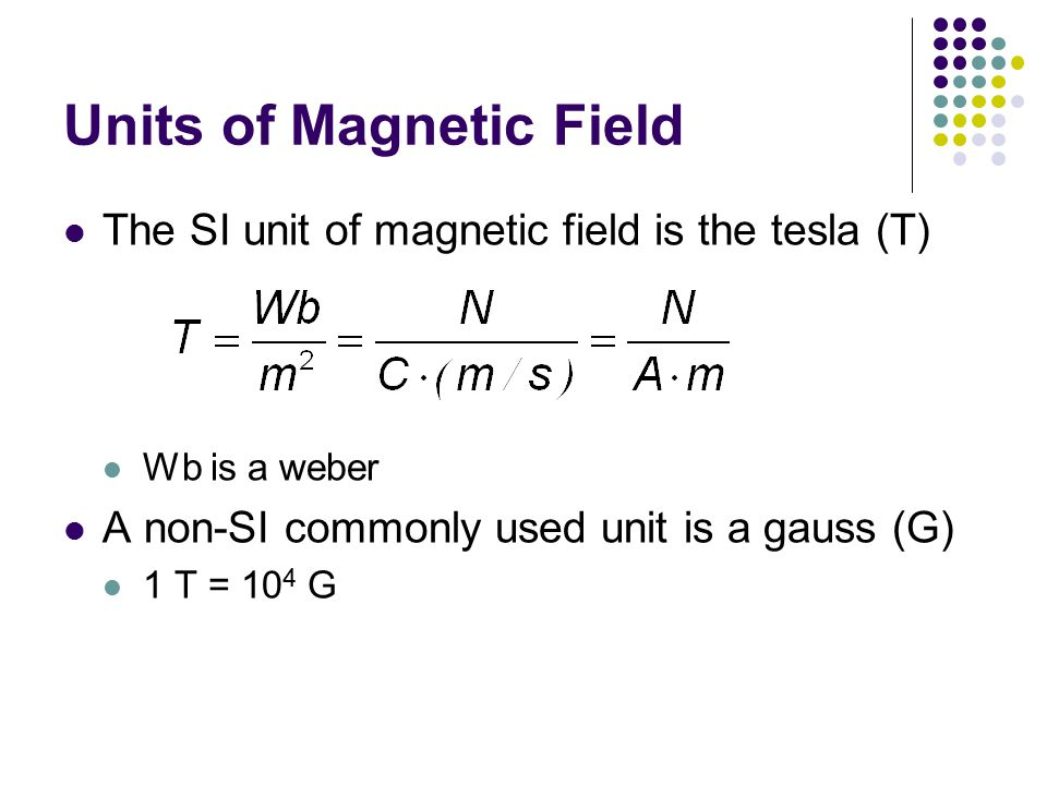 Units of Magnetic Field