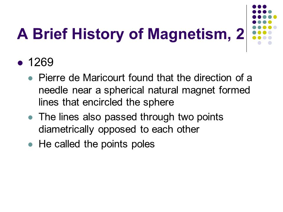 A Brief History of Magnetism, 2