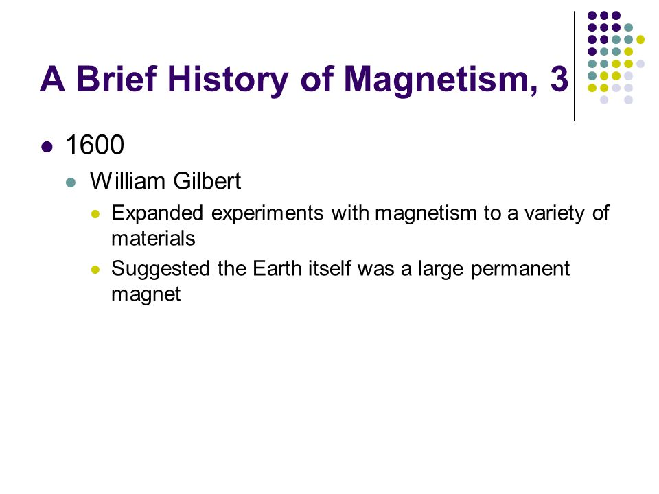 A Brief History of Magnetism, 3