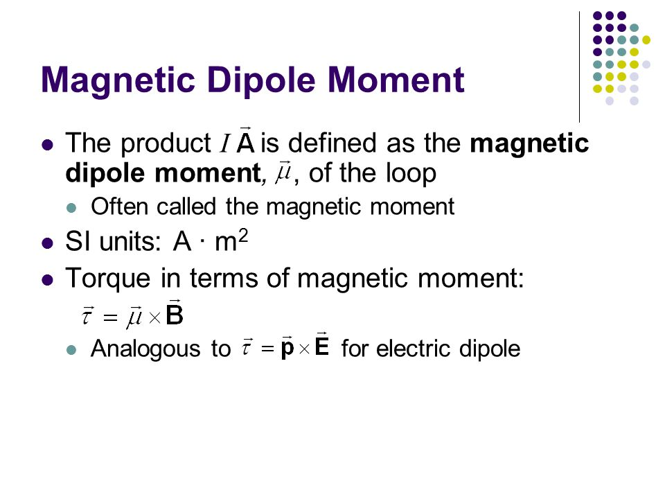 Magnetic Dipole Moment