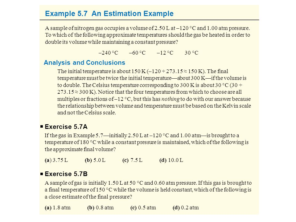 Example 5.7 An Estimation Example