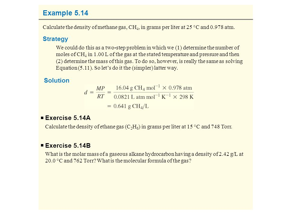 Example 5.14 Strategy Solution Exercise 5.14A Exercise 5.14B