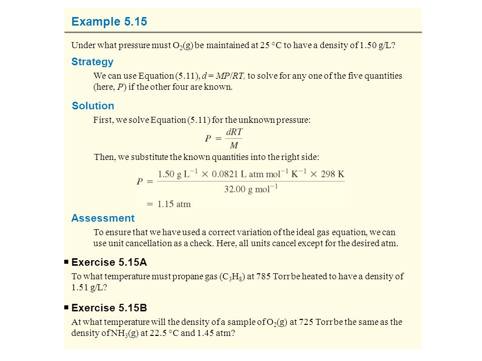 Example 5.15 Strategy Solution Assessment Exercise 5.15A