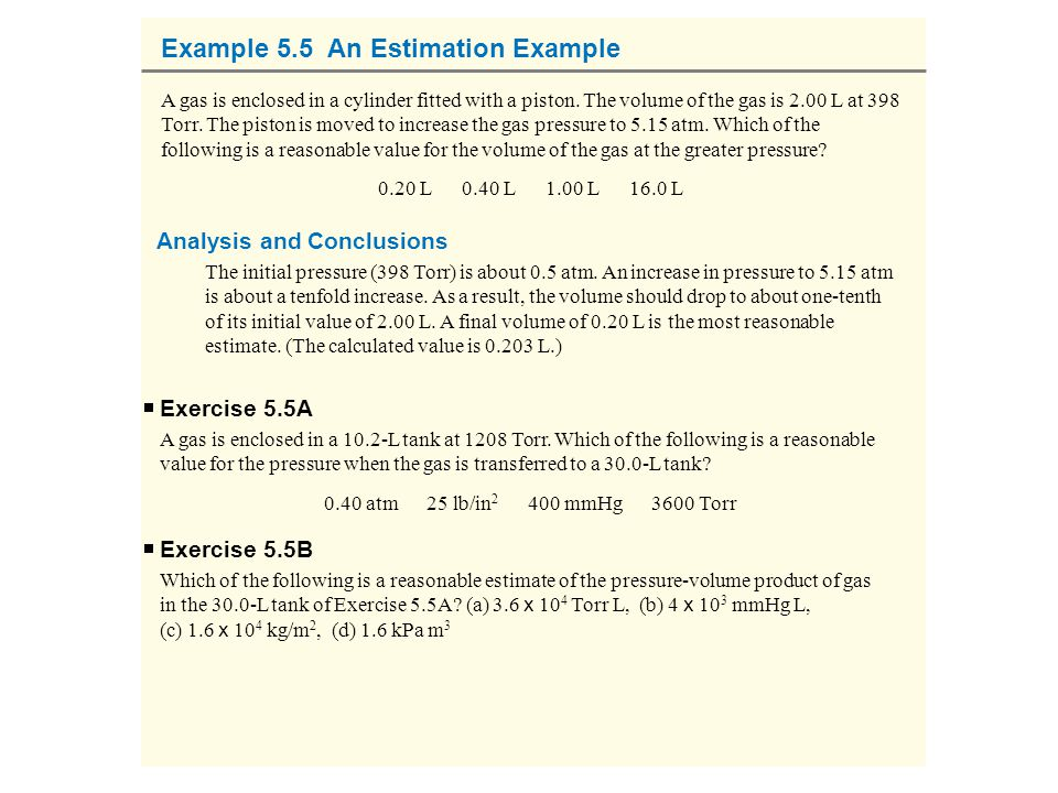 Example 5.5 An Estimation Example