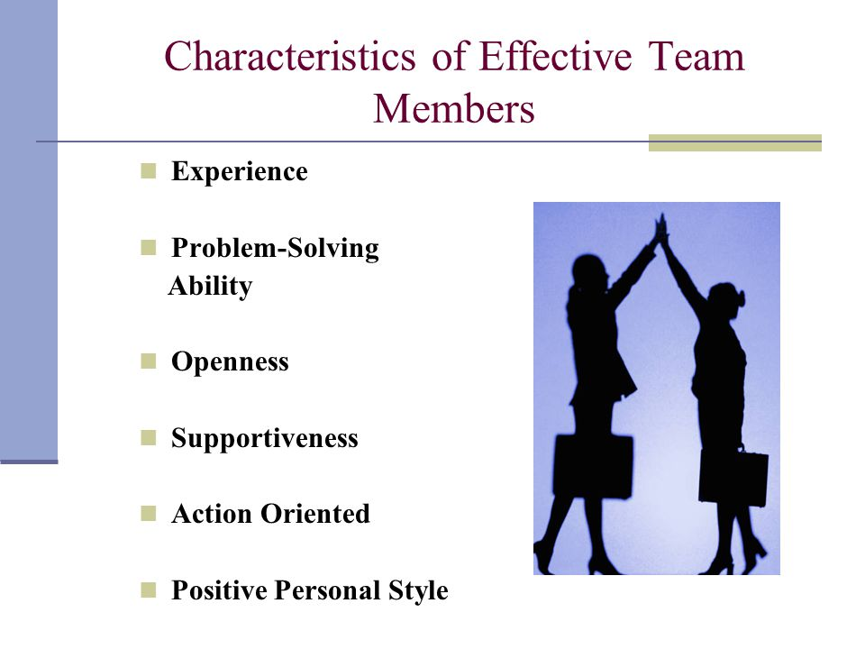 Characteristics of Effective Team Members