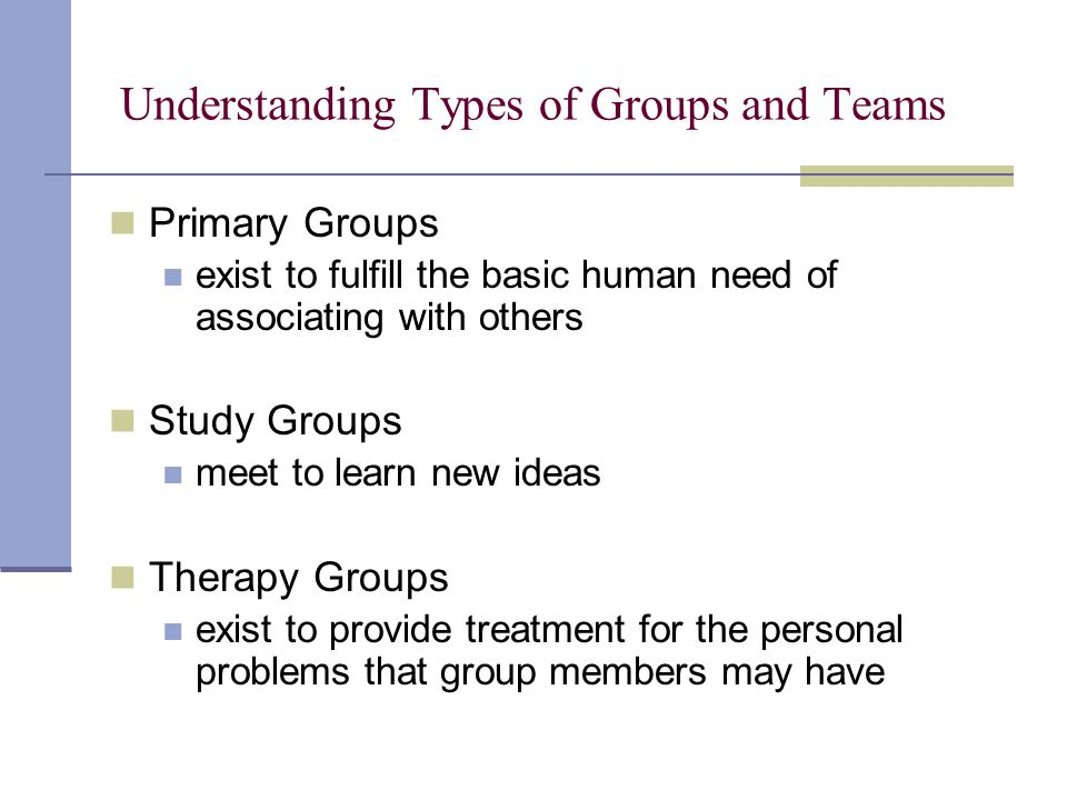 Understanding Types of Groups and Teams