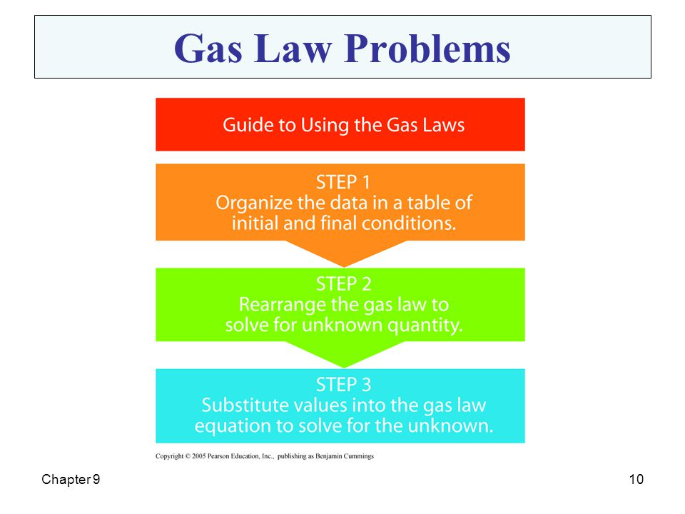 Gas Law Problems Chapter 9
