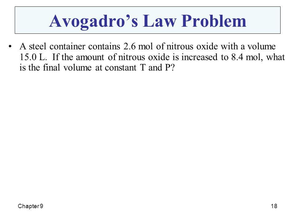 Avogadro's Law Problem