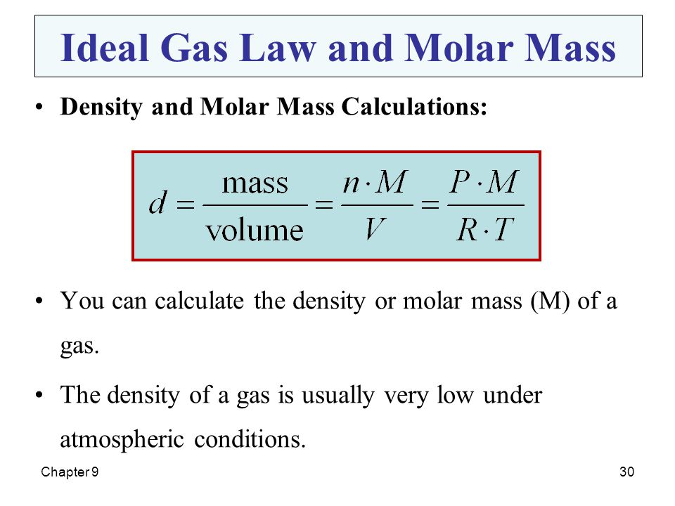 Ideal Gas Law and Molar Mass