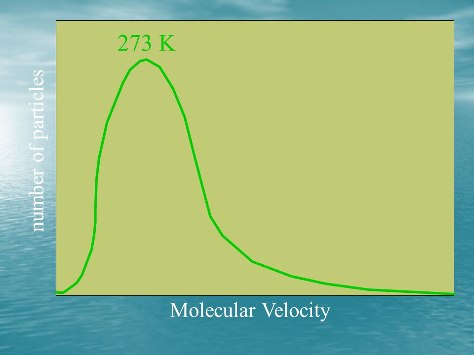273 K number of particles Molecular Velocity