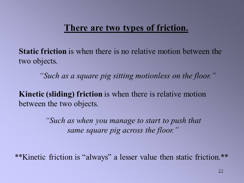 There are two types of friction.