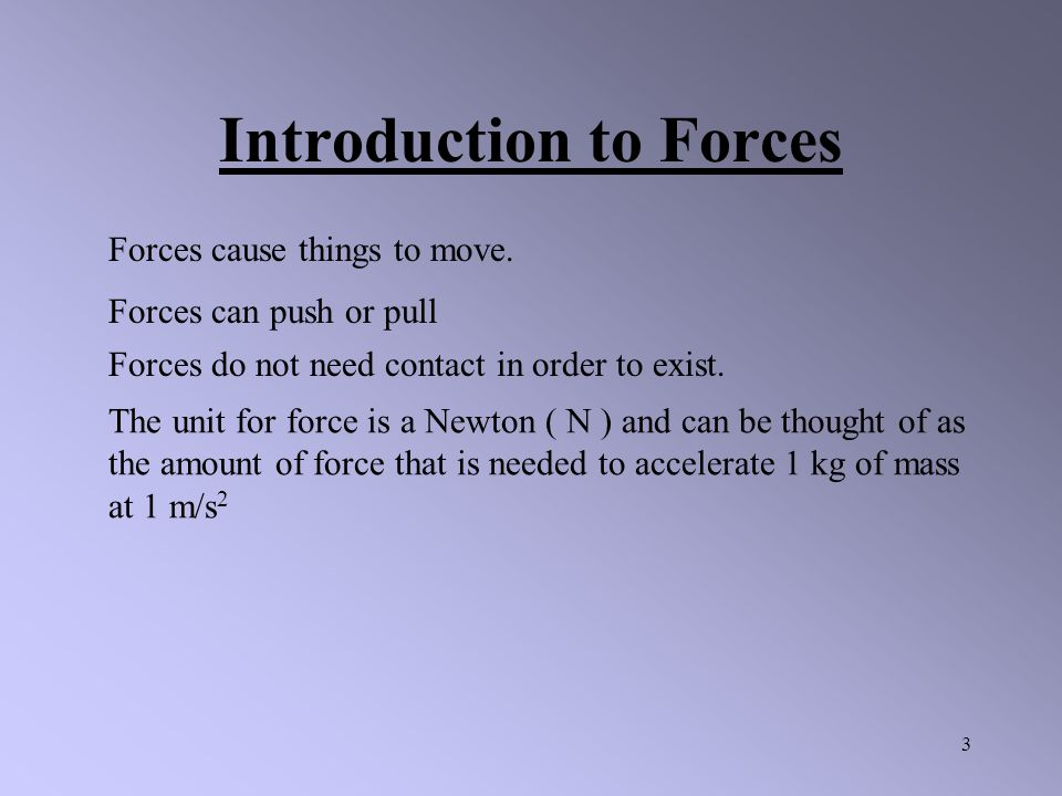 Introduction to Forces