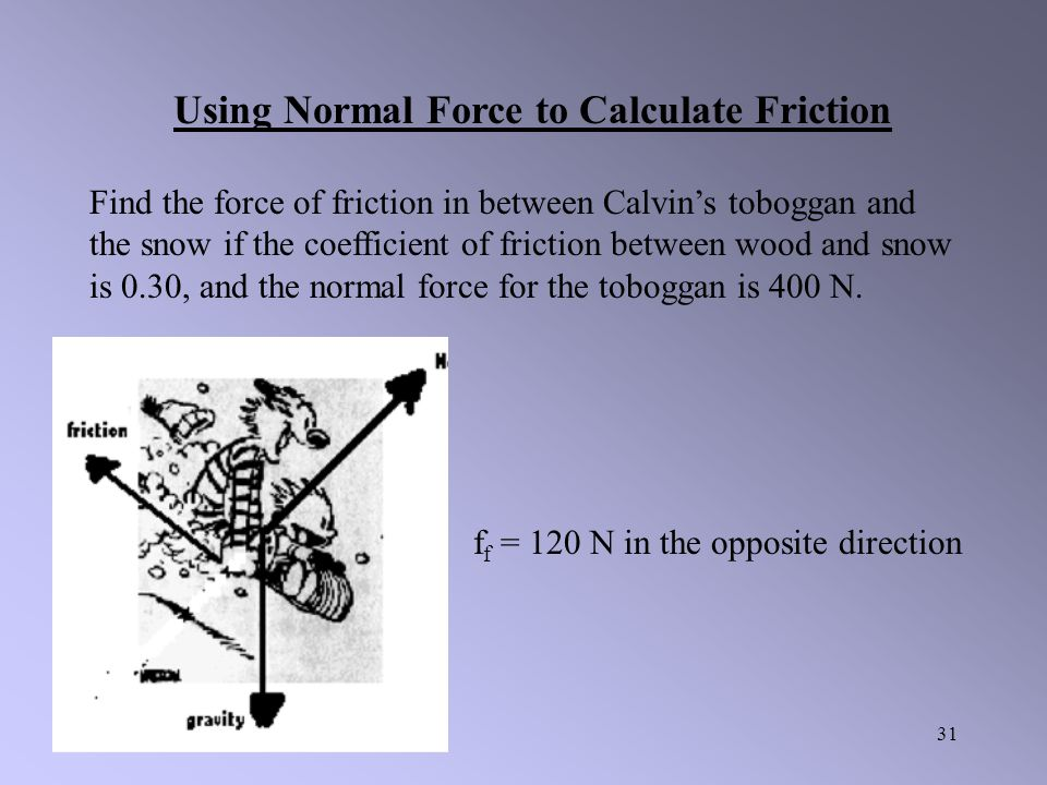 Using Normal Force to Calculate Friction