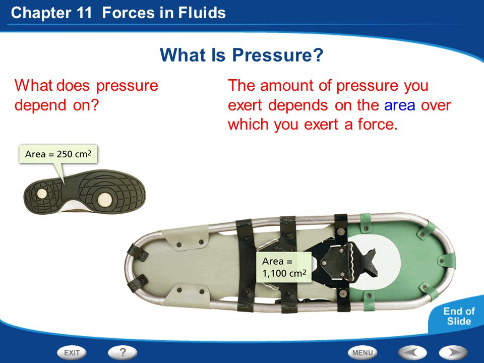 What Is Pressure What does pressure depend on