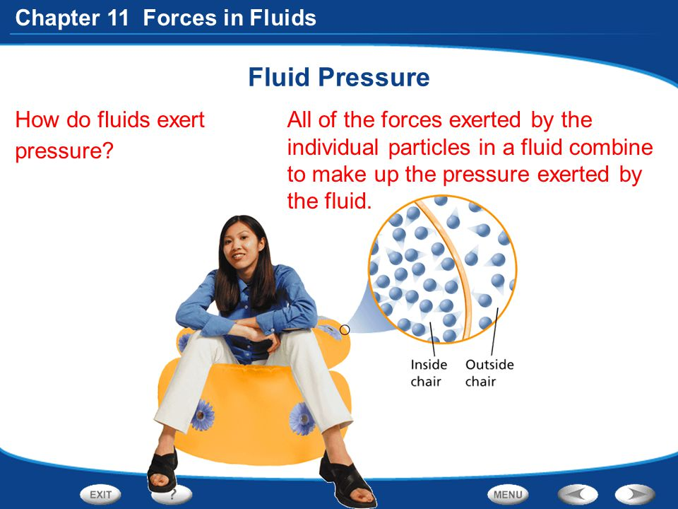 Fluid Pressure How do fluids exert pressure