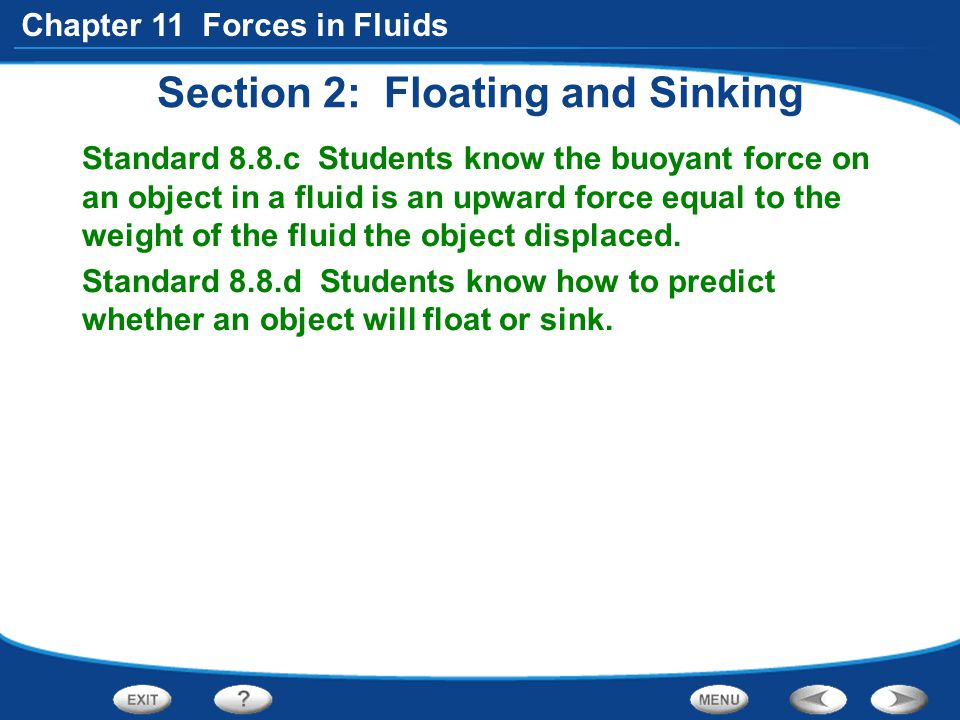 Section 2: Floating and Sinking