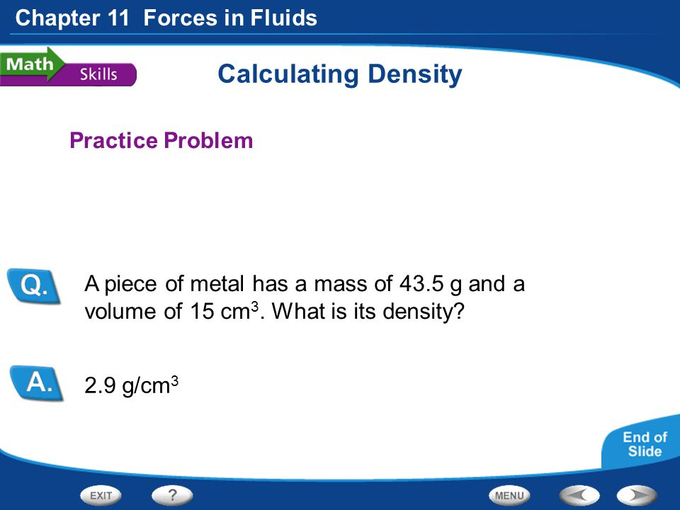 Calculating Density Practice Problem