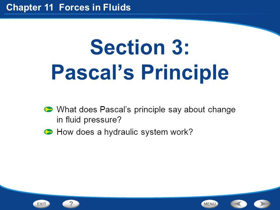 Section 3: Pascal's Principle