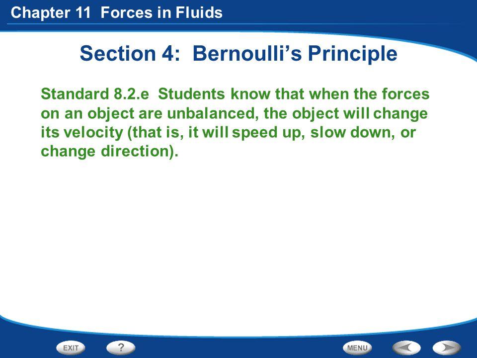 Section 4: Bernoulli's Principle