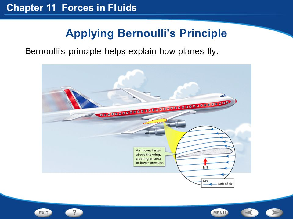 Applying Bernoulli's Principle